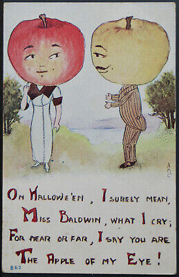 Halloween - A M C Anthropomorphic Vegetable People - F A Owen   PC346