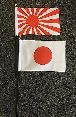 Japanese Rising Sun Hand or Table Flag Japan Nippon Business Exports Rugby Anime