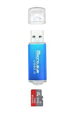 Mini New USB 2.0 480 Mbps Micro SD SDHC Memory Card Reader/Writer Flash Drive