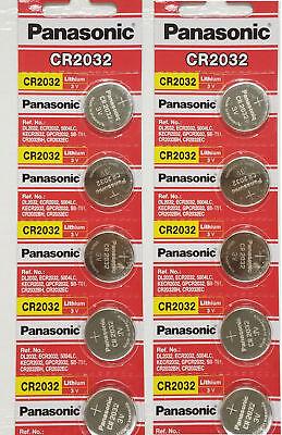 10 x SUPER FRESH Panasonic ECR2032 CR2032 Lithium Battery 3V Coin Cell Exp. 2027