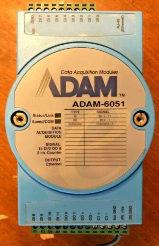 ADVANTECH 16-CH ISOLATED DI/O W/COUNTER MODULE ADAM-6051s & PS