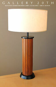 mid century danish modern wood table lamp good design paul mccobb era vtg 50s ebay. Black Bedroom Furniture Sets. Home Design Ideas