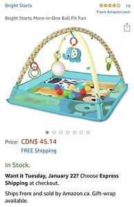 Baby gym with balls