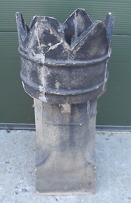 Antique Victorian Pottery Chimney Pot - Good Garden Item (with Some Damage)