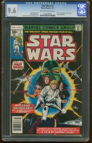 Star Wars 1 JULY 1977 CGC 9.6 NEAR MINT+ 1st Print MARVEL Luke Leia Vader G-201
