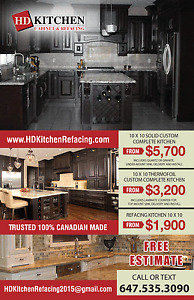 refacing your cabinets from $1900