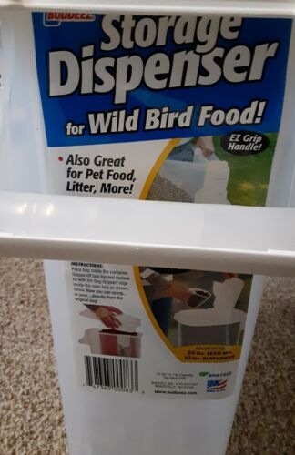 Buddeez 16-Quart Pouring Dispenser for Pet Food and Bird Seed, Large