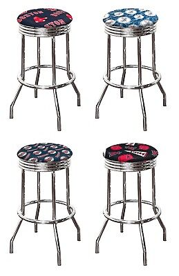 Logo Fabric Bar Stool - MLB TEAM LOGO FABRIC 24