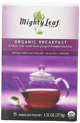 Mighty Leaf Black Tea, Organic Breakfast, 15 Pouches