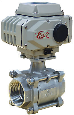 2 Electric Actuated Ball Valve 120 Vac Stainless Steel-new