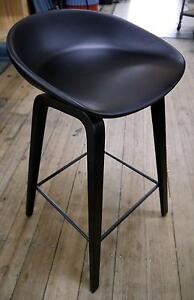 New Black Timber Scandi Replica Hee Welling Counter Stools Melbourne CBD Melbourne City Preview