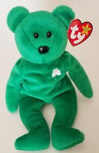 4cc4f3e7bdc Ty ERIN Beanie Baby Bear Plush Stuffed Animal Shamrock Lucky Charm Gift Toy