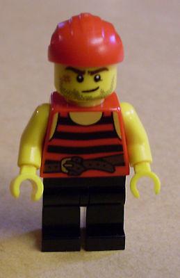 Lego Figur - Pirate 6 (schwarz-rot gestreift, schwarze - Piraten Narben