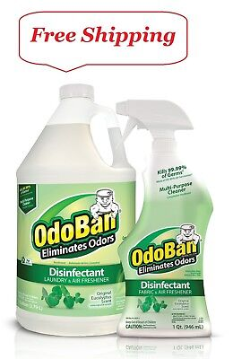 128 Ounce Liquid Concentrate (OdoBan Odor Disinfectant, Eucalyptus (1 Gallon Concentrate / 32 oz. Ready-to-Use )