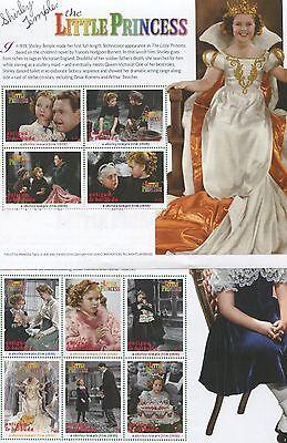 Shirley Temple The Little Princess Set of 2 Souvenir Stamp Sheets Antigua E61