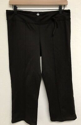 Prana Women's Activewear Capri Pants Measure Medium Brown Drawstring Waist