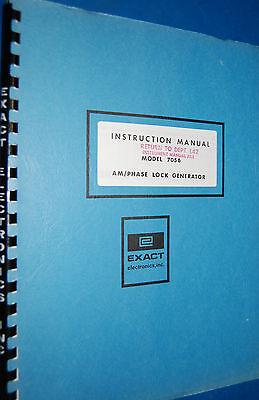 Exact Electronics 7056 Amphase Lock Generator Instruction Manual