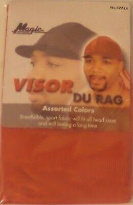- Magic Sporty Visor Du-rag -Red 100% Cool Mesh Fiber Breathable Superior Stretch