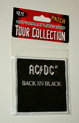 The AC/DC Concert Rock Tour Band Back In Black Cloth Patch New NOS MIB 2005