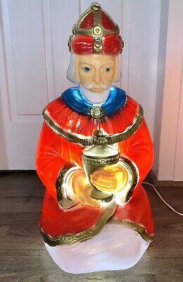 "25"" General Foam 3 Wise Men Kings Magi Nativity Set Christmas Lights Blow Mold"