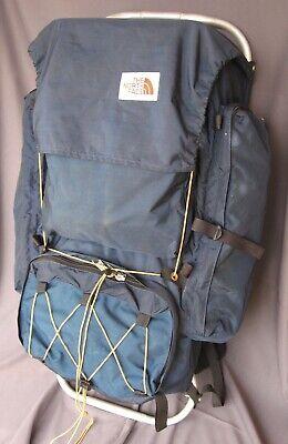 903e0c2793e Vntg THE NORTH FACE Brown Label 1970's Lg External Frame Backpack Blue  *NICE!*