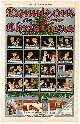 1919 ORIGINAL VINTAGE DENNISON TAG MAKER CHRISTMAS THEME MAGAZINE AD