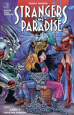 STRANGERS IN PARADISE #6 VARIANT-COVER  deutsch  JIM LEE/TERRY MOORE lim.222 Ex.