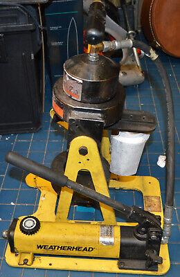 Eaton Weatherhead T-460 Portable Crimping Machine Hydraulic Hose Crimper W Dies