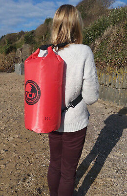 30L roll top dry bag 100% waterproof lightweight TOUGH RIPSTOP nylon with straps