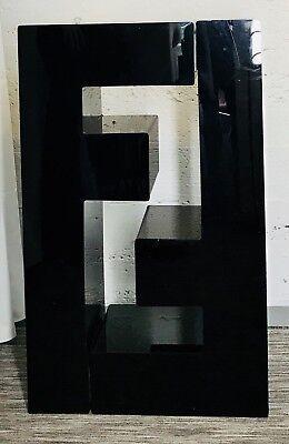 Fendi Store Display Logo Shelves Black Heavy Plastic Nordstrom