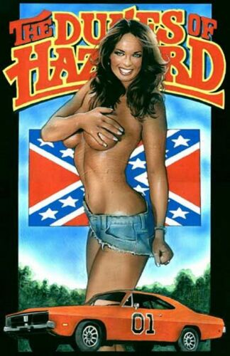 Daisy Duke Rebel 1969 Charger General  Pinup Cave SIGN 4x6 Fridge Magnet BAR P46