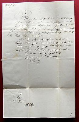 1849 HANNOVER  Wilhelm August von RUDLOFF -Generalpostdirektor Kgr. Hannover e.U