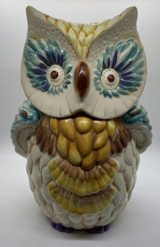 Anthropologie Owl Cookie Jar RETIRED EXCELLENT!!