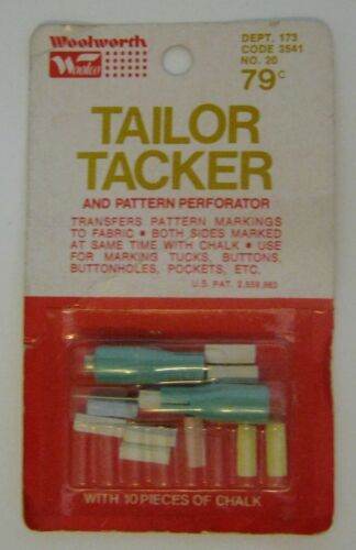 Vintage Tailor Tacker & Pattern Perforator--Marks Both Sides at Once with Chalk
