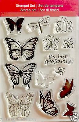 Clear Stempel transparent  Schmetterlinge