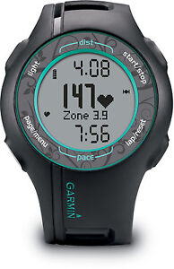 Garmin Forerunner 210 GPS Sport Watch w/ HRM - BLACK/TEAL 010-00863-38