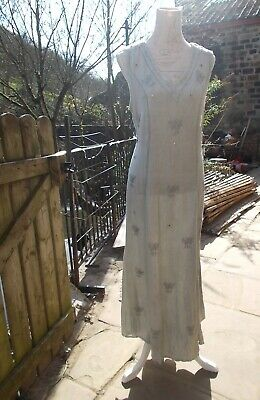Vintage 90s Unbranded Grey Hippy Ethnic Festival Indian Summer Dress UK 12 - 16