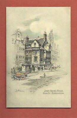 Unused Andrew Allan Drawn Postcard - John Knox's House, High St.,Edinburgh