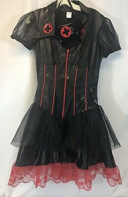 Naughty Nurse Halloween (Gothic Head Nurse Costume Leg Avenue Womens Naughty Halloween Sz M Black)