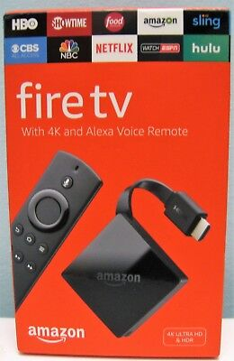 AMAZON FIRE TV WITH 4K ULTRA HD AND ALEXA VOICE REMOTE 2017 , NEW IN BOX