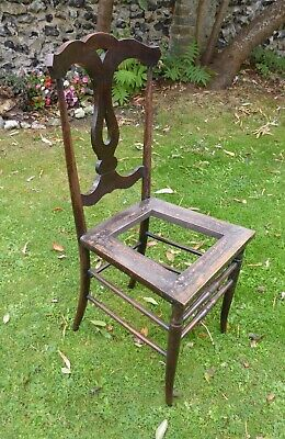 Restoration Project. Edwardian Art Nouveau Bedroom/Dining Chair. Needs New Seat.