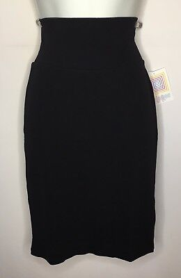 LULAROE NEW CASSIE PENCIL SKIRT 2XL SOLID BLACK NOIR 2 II COLLECTION UNICORN