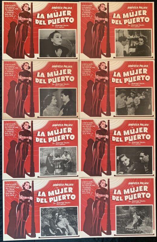 LA MUJER DEL PUERTO Andrea Palma CLASSIC MEXICAN LOBBY CARD SET 1933
