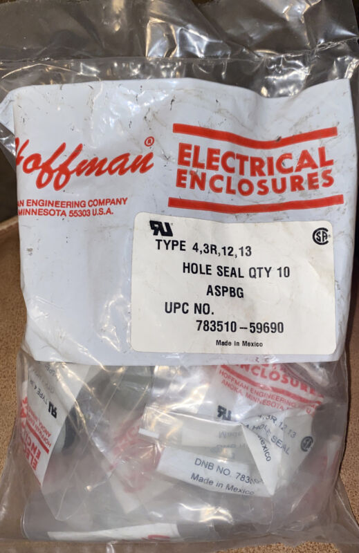 Hoffman Aspbg Pushbtn Hole Seal,0.87 In Hole,steel (lot Of 10)