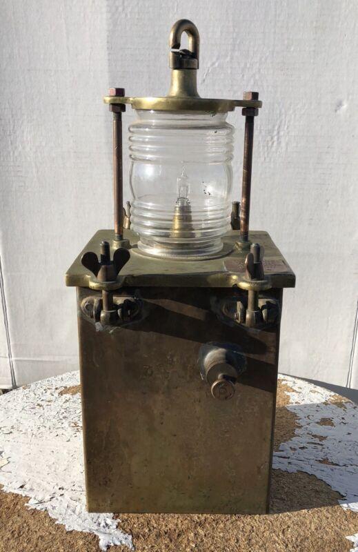 Vintage Nautical Light Lamp Port Starboard Battery Brass Ship Lamp Rare