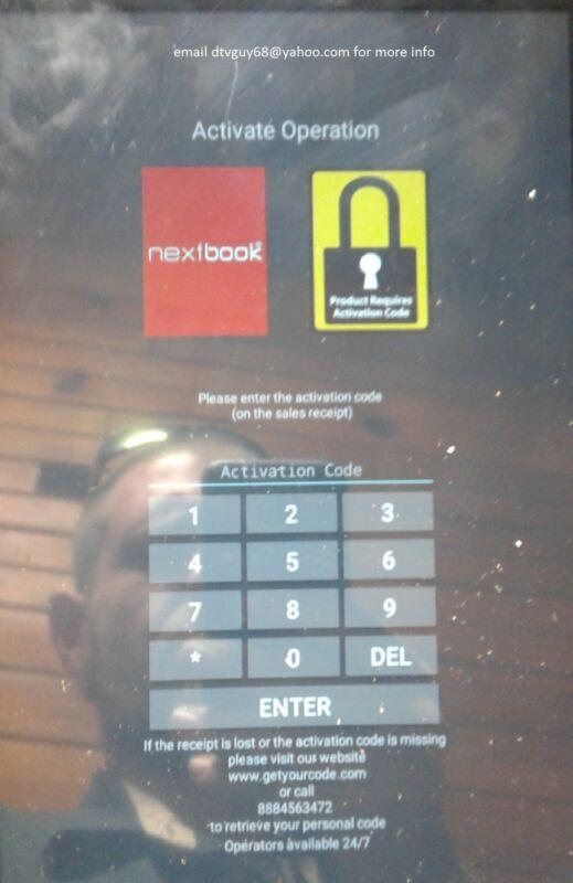 Nextbook Activation Code