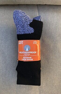 Weatherproof Outdoor Trail Wool Blend Crew Socks Fits Shoe Size 6-12 4 Pairs NWT - 70s Socks