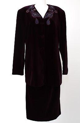 Louis Kostüm (Louis Feraud Kostüm Gr. 44 Samt Blazer Rock Jacket Skirt)