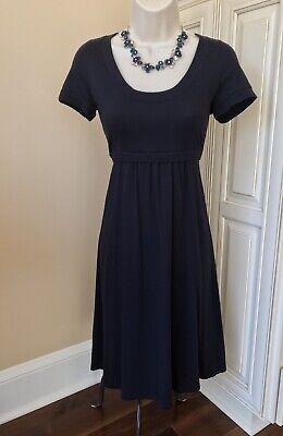 Boden Short Sleeve Navy Blue Empire Waist Knit Dress ~ Women's US Size 6  UK 10
