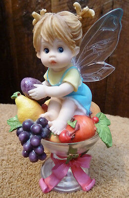 Kitchen Fairy Sugar - My Little Kitchen Fairie Enesco SUGAR PLUM FAIRIE 2004 #117858 NO BOX